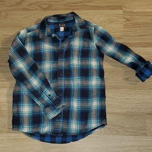Plaid button up shirt size 10/12